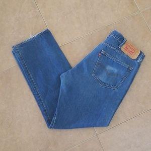 Mens Levis 501 Long Blue Jeans